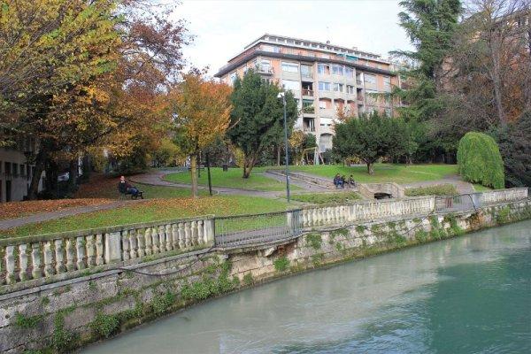 La riva del fiume Sile a Treviso