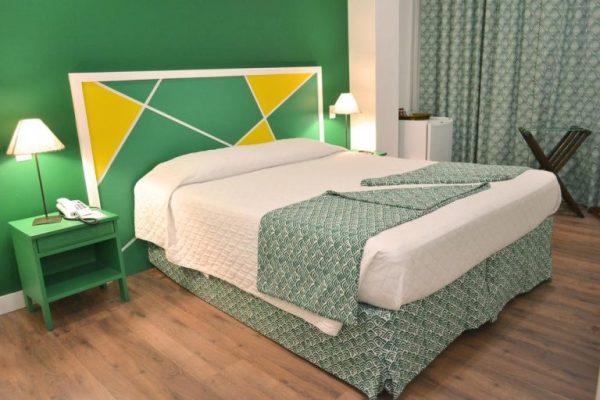 Camera da letto nell'hotel 55 Rio Copacabana a Rio de Janeiro