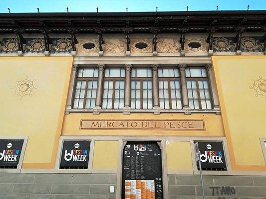 Esterno del vecchio mercato del pesce di Udine ora Galleria Tina Modotti