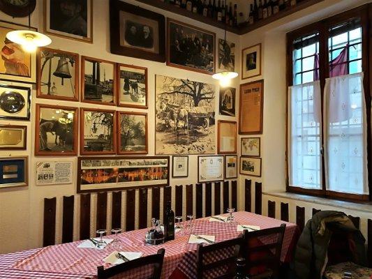 Sala da pranzo dell'osteria Al Vecchio Stallo di Udine