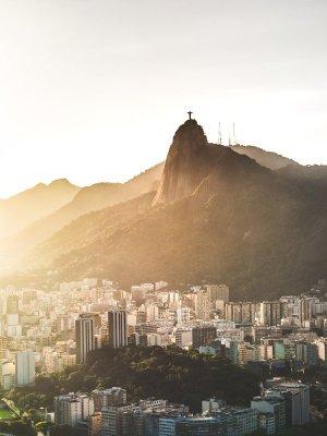 Panorama di Rio de Janeiro con il Corcovado sullo sfondo