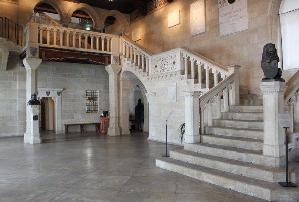 L'atrio del Palazzo Pubblico di San Marino