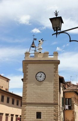 La Torre dell'Orologio di Pulcinella a Montepulciano