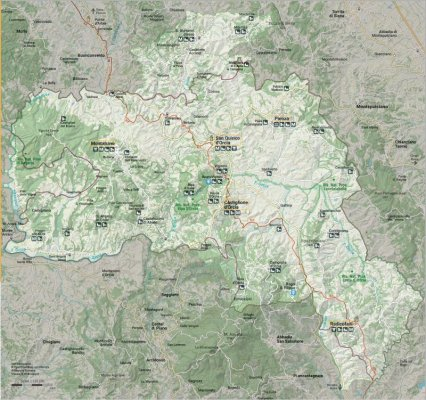 La mappa della Val d'Orcia in Toscana