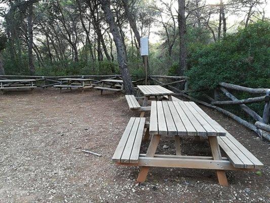 L'area pic-nic nel Parco di Porto Selvaggio nel Salento