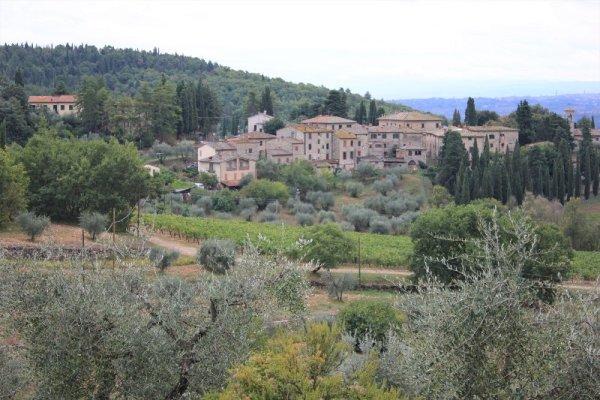 Panorama del borgo di Fonterutoli nel Chianti