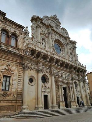 La facciata della Basilica di Santa Croce a Lecce