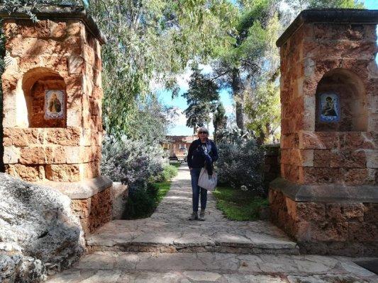 Cortile interno nella tenuta Al Bano Carrisi a Cellino San Marco