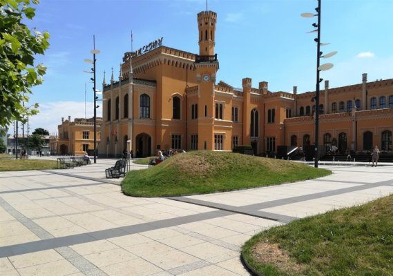 La stazione dei treni di Breslavia