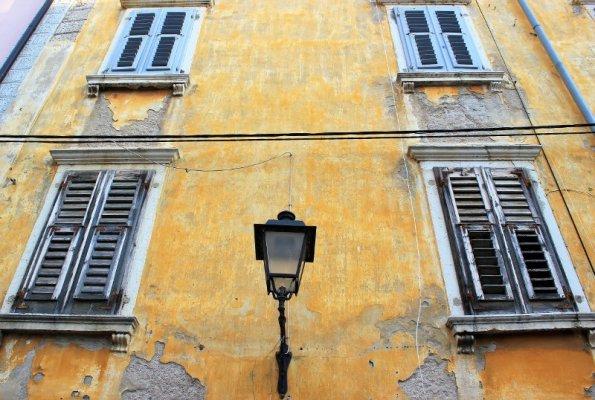 Architettura caratteristica delle abitazioni di Pirano in Slovenia