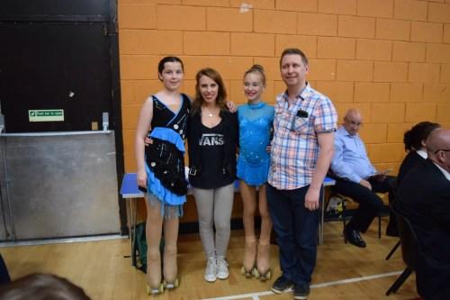 Madison and Kati at Mini solo championships 2015
