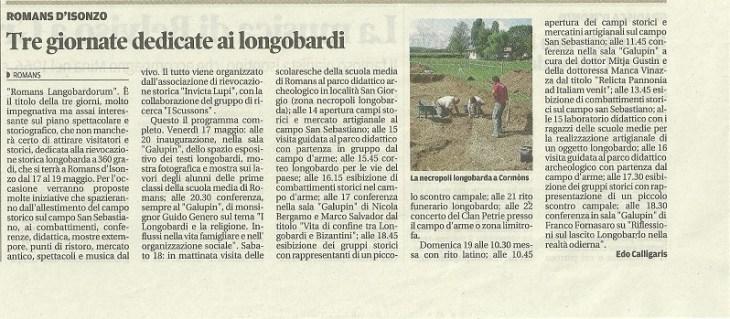 05 maggio 2013 - Messaggero Veneto