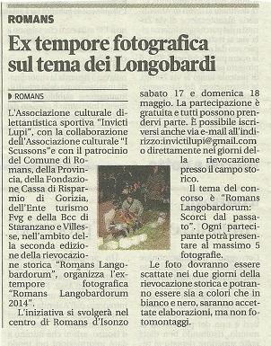 08 - Messaggero Veneto - 7 maggio 2014