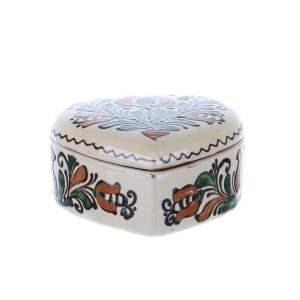 Bomboniera inimioara ceramica Corund