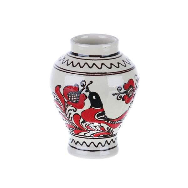 Vaza de ceramica rosie de Corund 14 cm