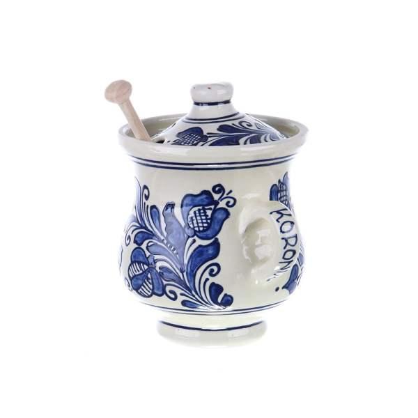 Vas Miere ceramica albastra de Corund 500 ml