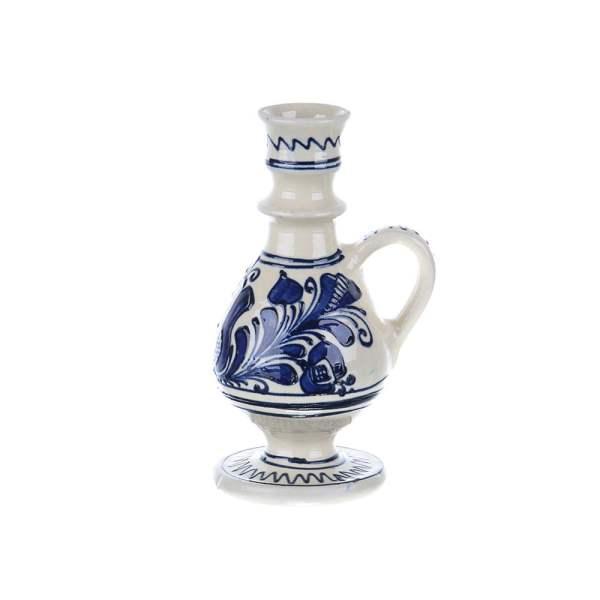 Ulcior mic ceramica albastra de Corund 200 ml Model 1