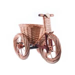 Decorațiune de gradină tricicletă mare din lemn
