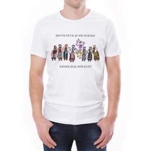 Tricou bărbați Șapte fete și-un flacău Ediție Limitată Învie Tradiția alb
