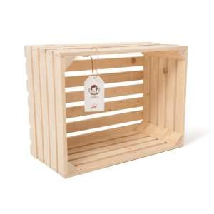 """Lădiță din lemn de brad 40 x 30 x 20 cm """"Lemnica"""""""