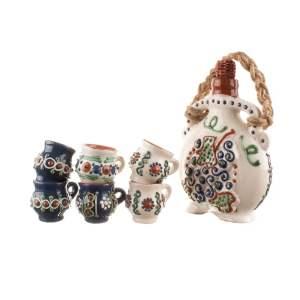 Set pentru tuică din ceramica Bledea Baia Mare
