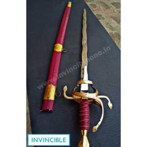 17th Century Swept Hilt Rapier Sword (Flaming sword)