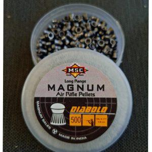 MAGNUM AIR RIFLE PELLETS(9 grain pellets)(DIABOLO PELLETS)(.177CAL)