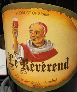 Le Révérend, Wine of Spain1