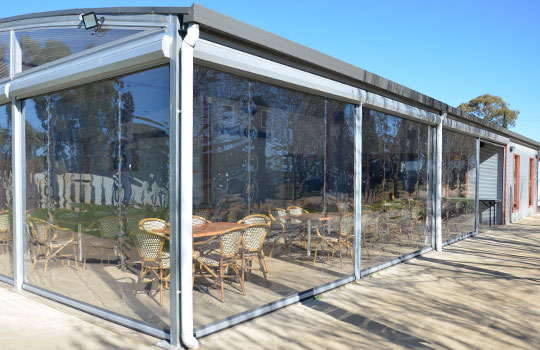 Café Blinds Ashford | Clear PVC Blinds Ashford | Ziptrak