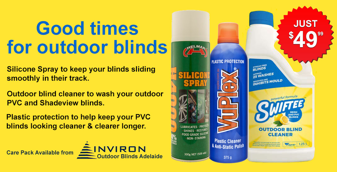 Cleaning Outdoor Blinds | Cafe Blinds | PVC Blinds
