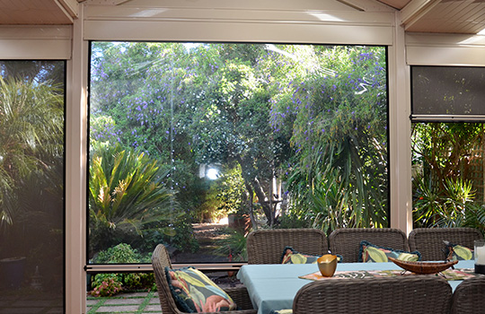 Clear Café Blinds | Clear Outdoor PVC Blinds