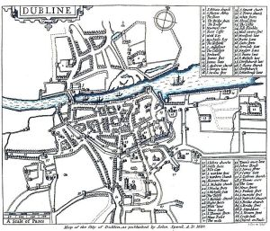 St. Michan's Church Year 1610 Map (Number 1)