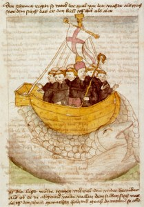Saint Brendan and the whale from a 15th-century manuscript