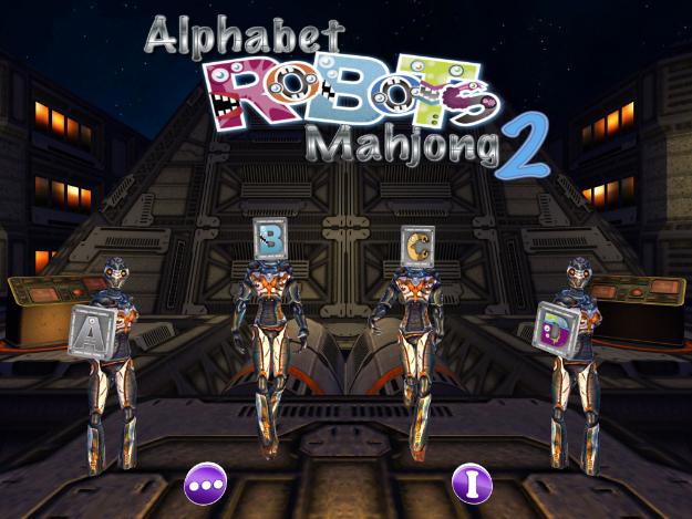 Alphabet Robots Mahjong 2 (Apple iPad4) - 01