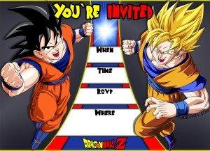 Dragon Ball Free Birthday Card Invitation