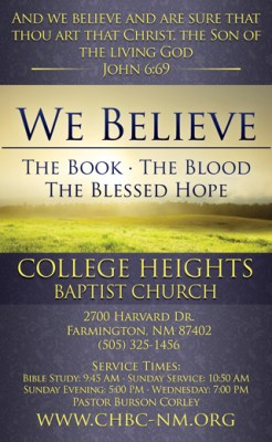 We Believe: 3×5 Church Invitation