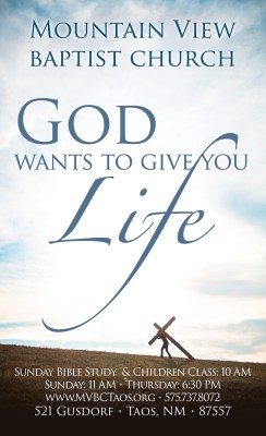 God Wants To Give You Life: 3×5 Tract