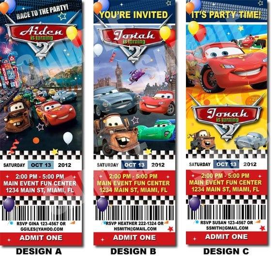 disney cars invitations templates free