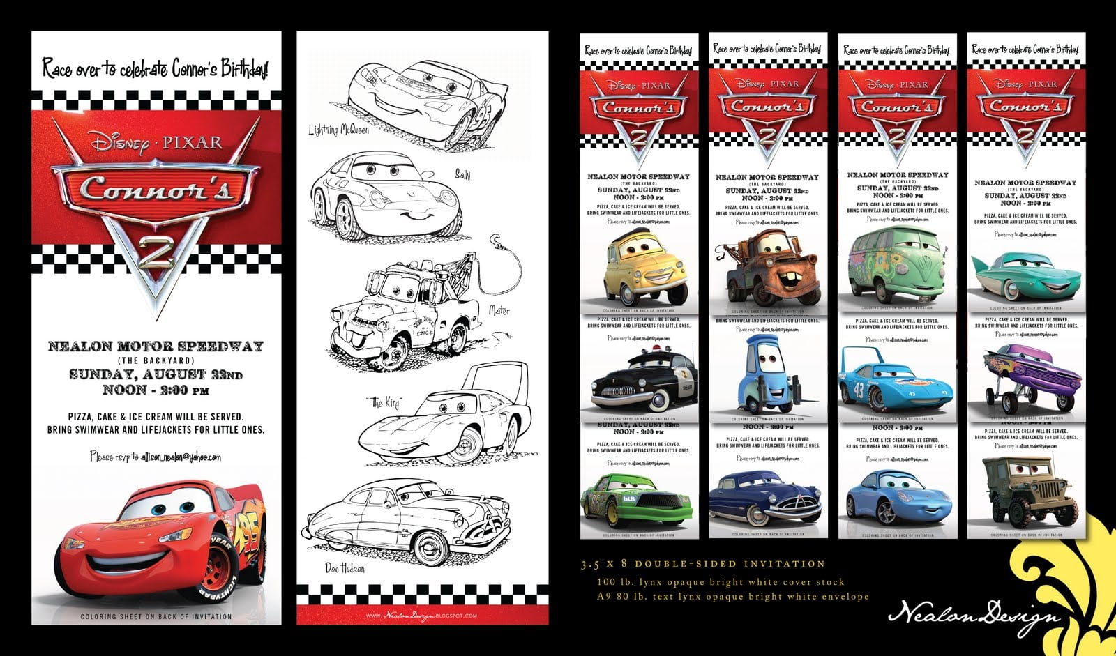 disney cars invitation template