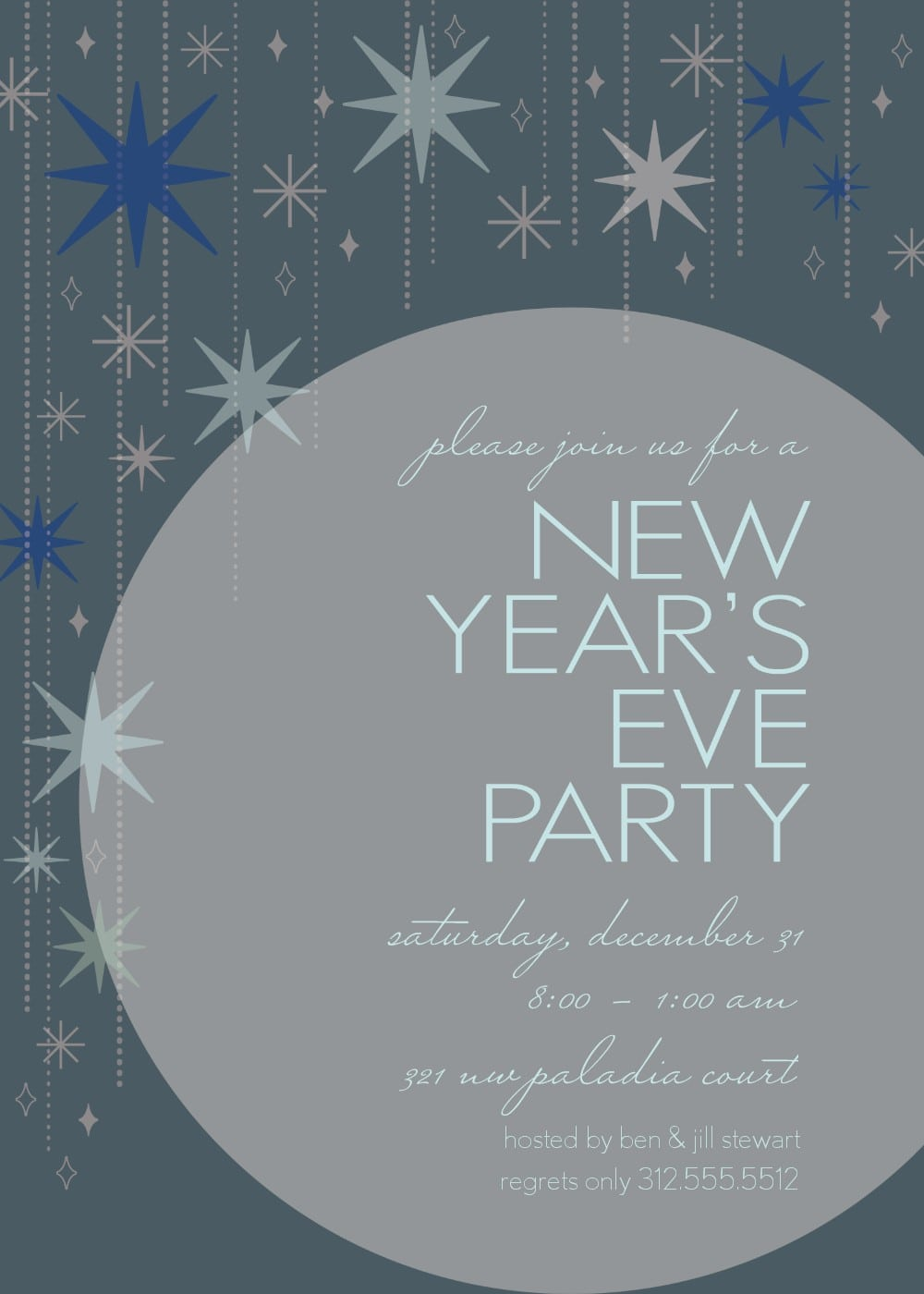 free new year invitation template merry christmas and happy new