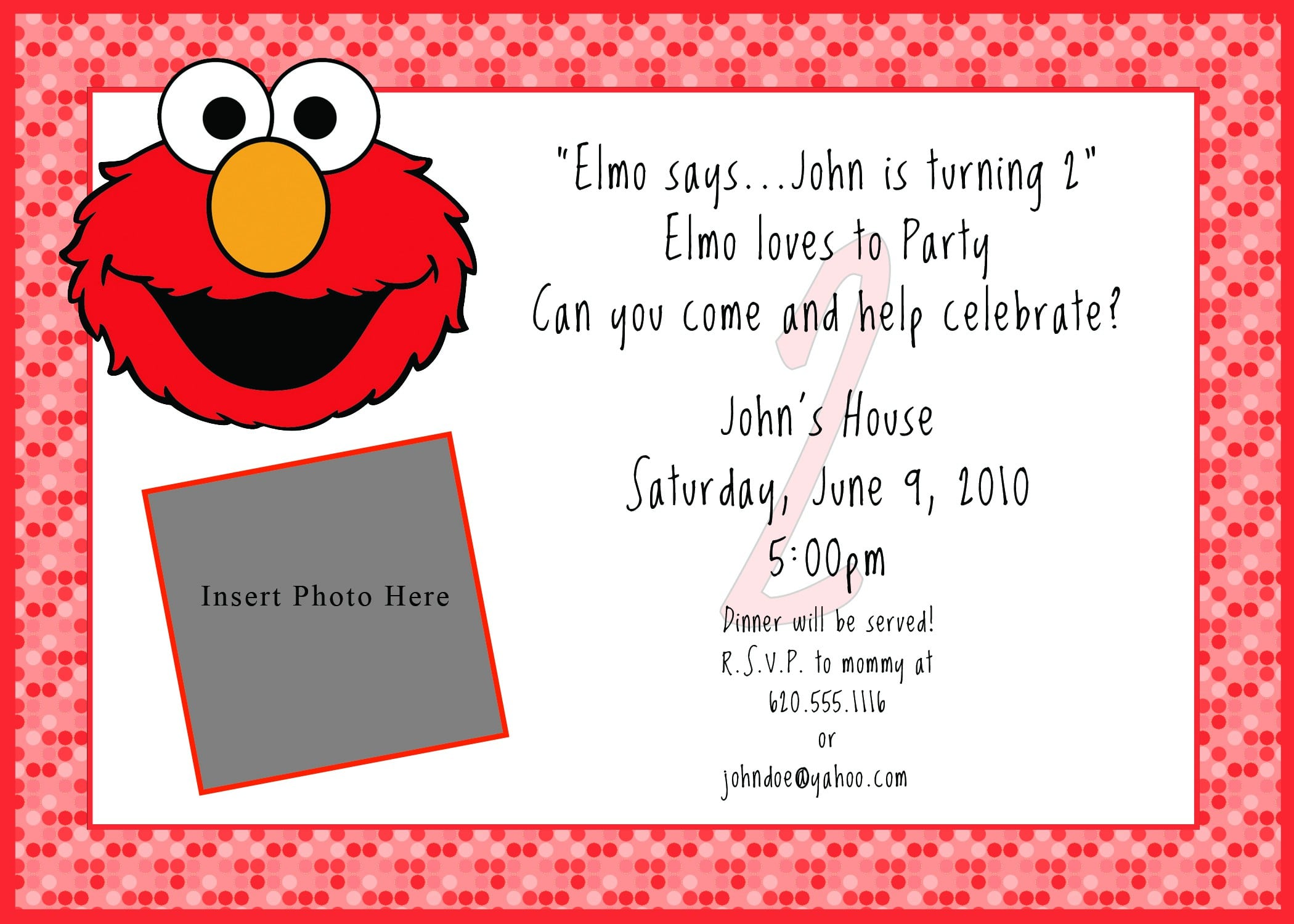 printable elmo birthday invitations
