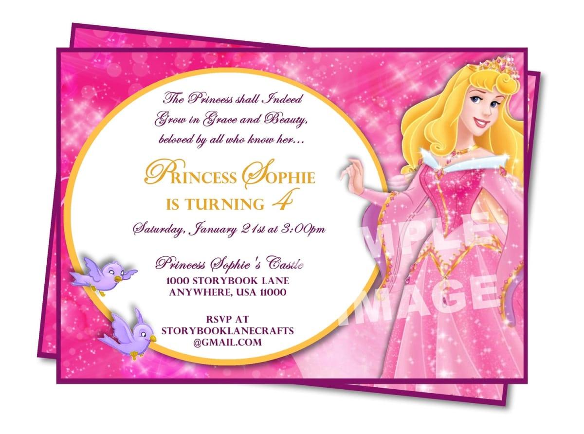 birthday invitation sample princess