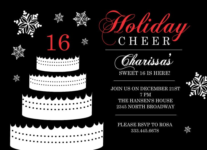 Sweet 16 Invitation Wording