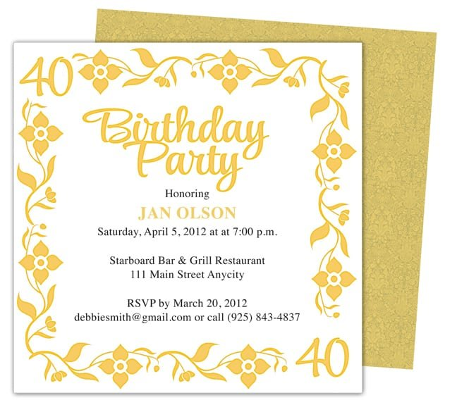 Doc585436 Free Birthday Invitation Templates for Word – Birthday Invitation Templates Free Word