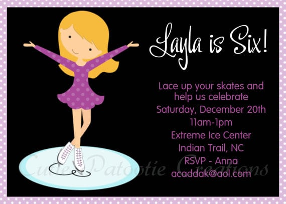 free printable invitations skating