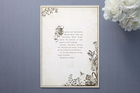 Marie Ryan They Meet The Question Invitation Envelope