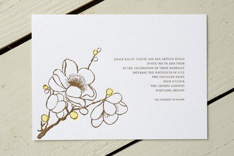 Sakura Wedding Invitations Invitation Crush