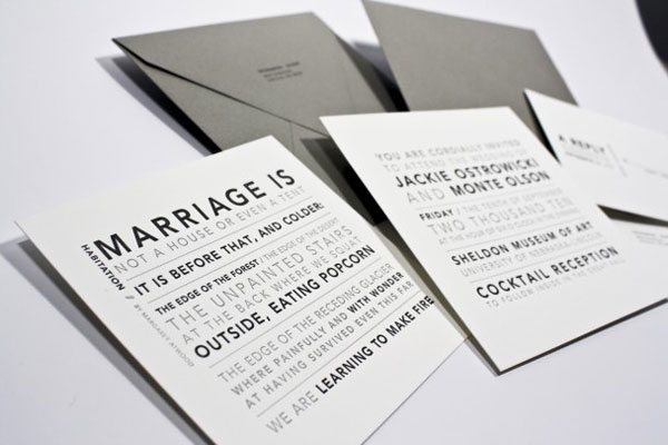 Typography Wedding Invitations To Create Your Invitation With Charming Design 20