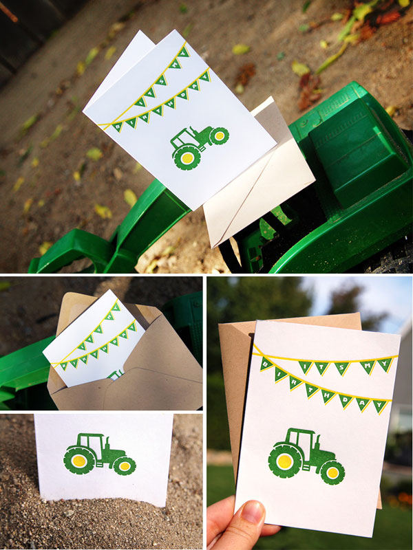 John Deere Inspired Printable Invitation 4 Diy Green Yellow