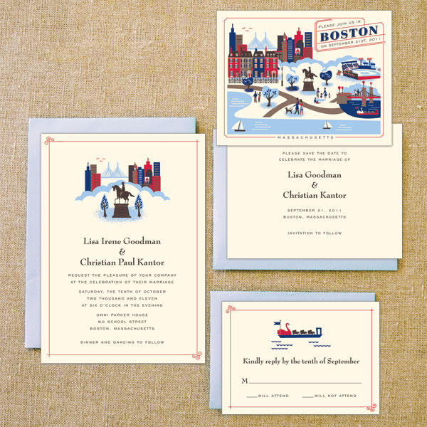 Destination Wedding Invites Boston